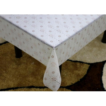 Printed pvc lace tablecloth by roll fabric